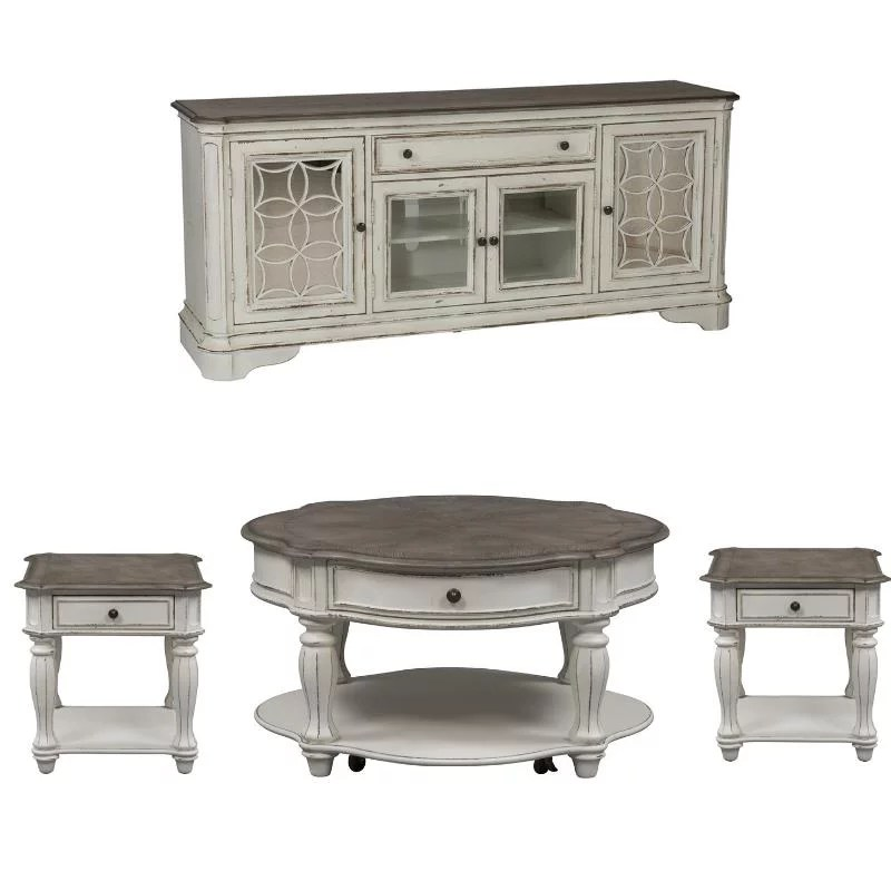 4 piece living room coffee table with tv stand and set of 2 end table walmart com
