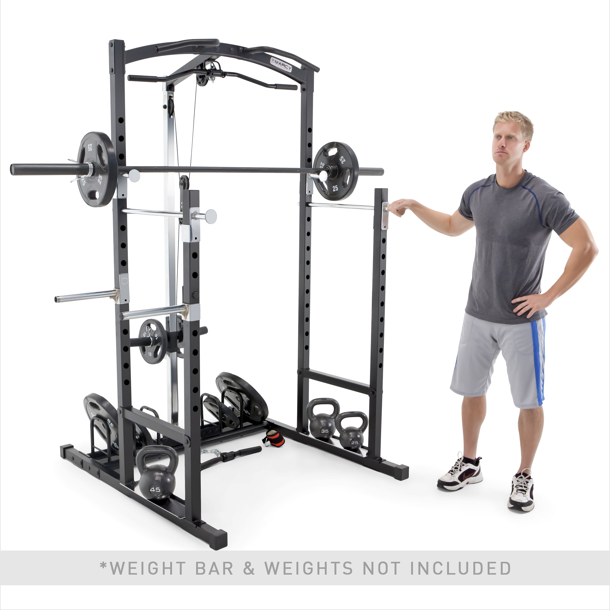 marcy home gym cage system workout station for weightlifting bodybuilding and strength training mwm 7041 walmart com