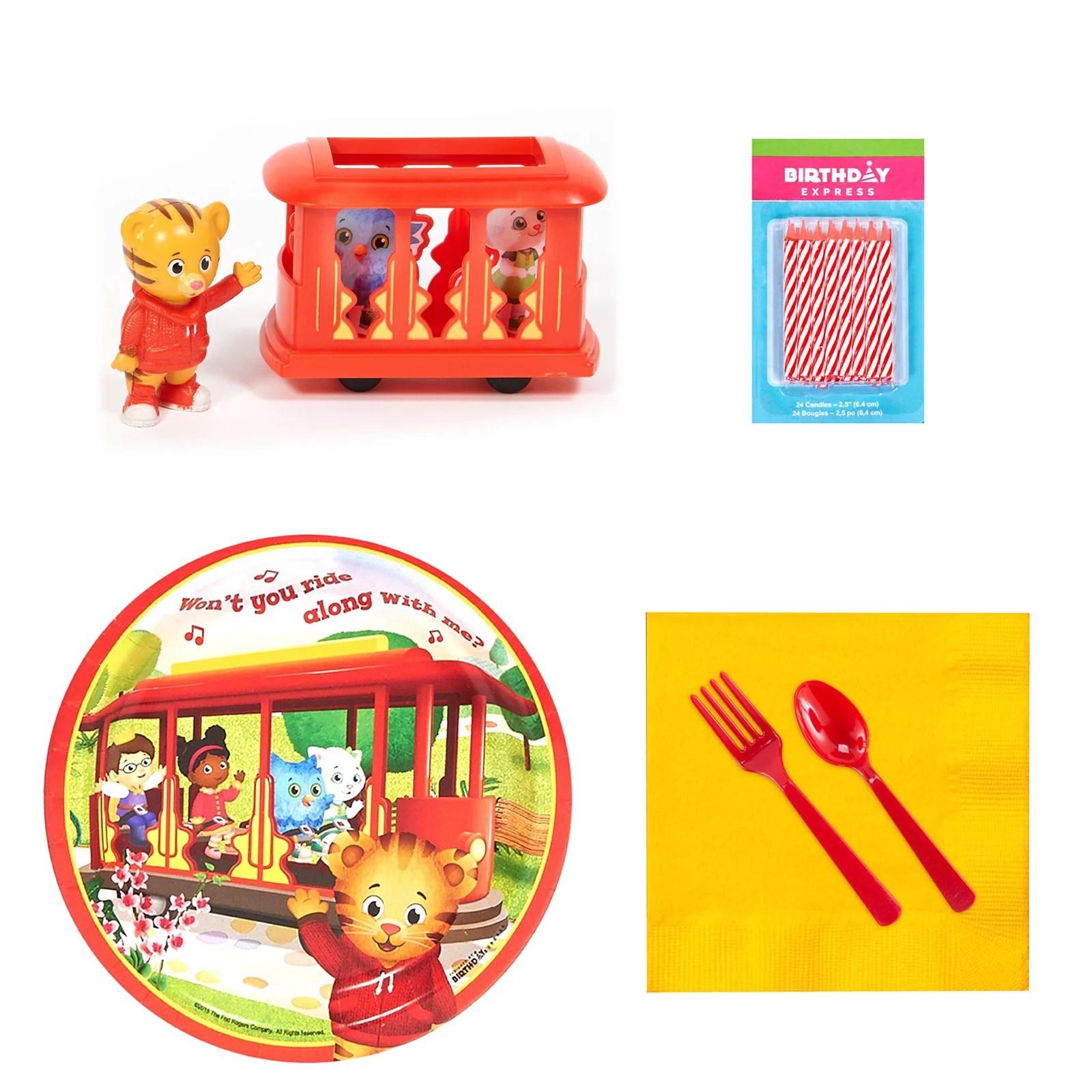 Daniel Tiger S Neighborhood Tableware And Cake Topper Kit Walmart Com Walmart Com