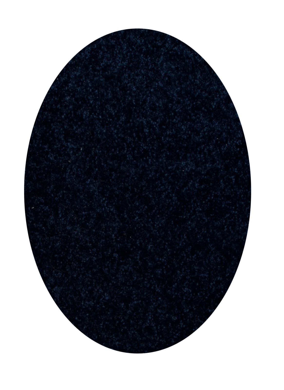 Home Queen Solid Color Oval Shape Navy 5 X8 Oval Shape