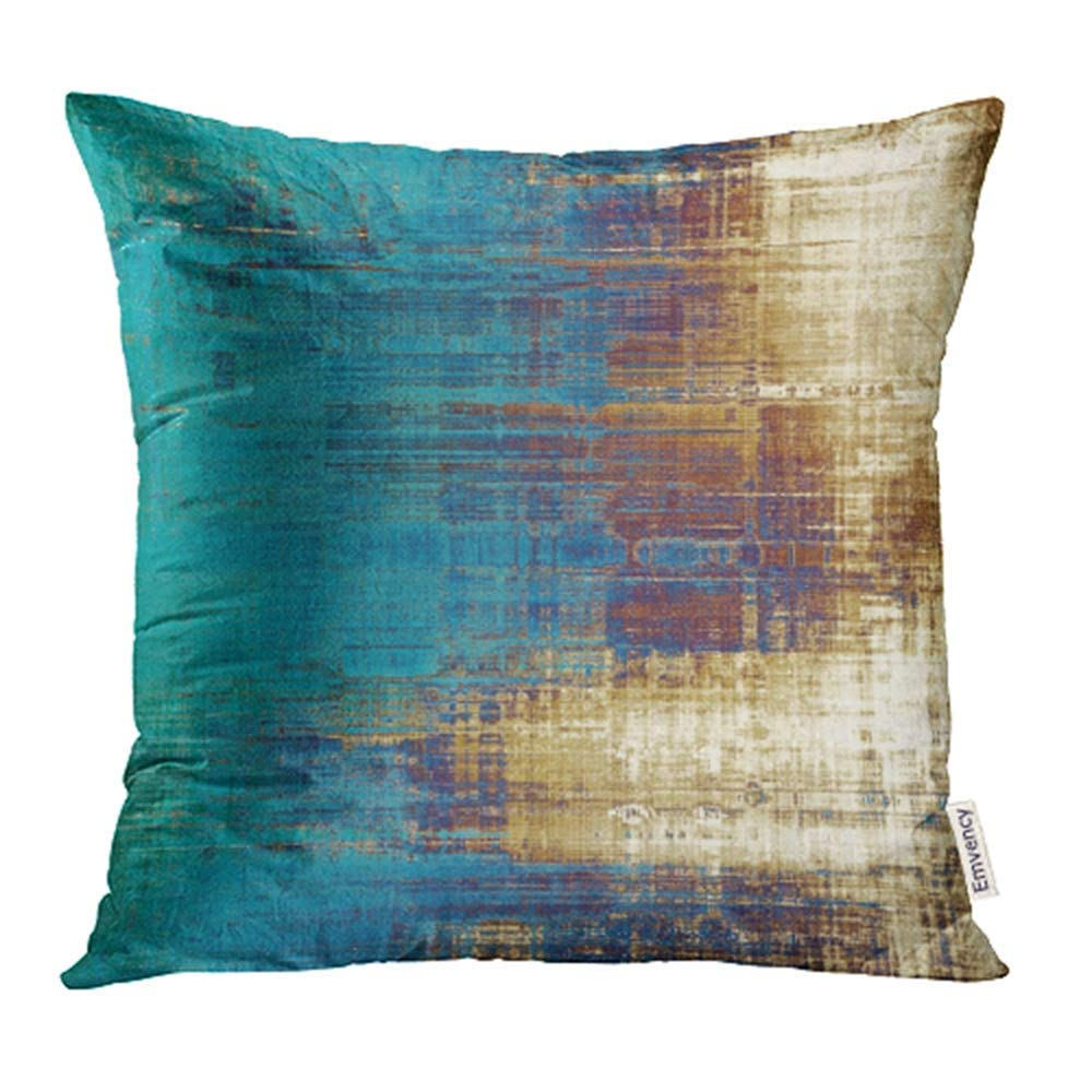 usart vintage patterns yellow beige brown green blue white pillow case pillow cover 20x20 inch throw pillow covers