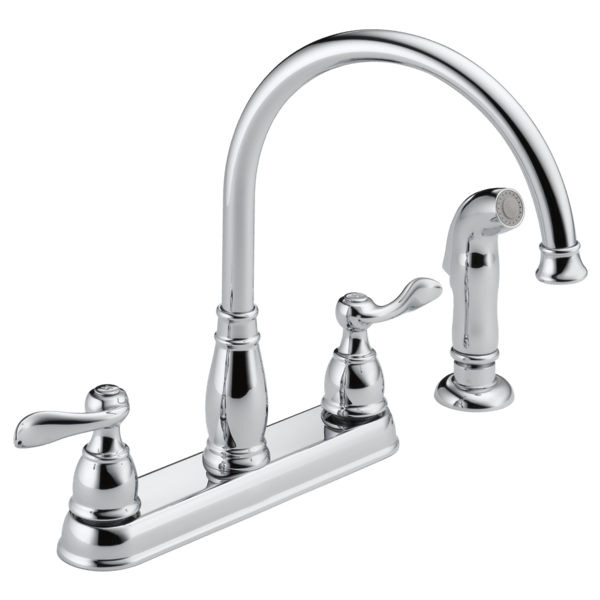 delta windemere two handle kitchen faucet in chrome 21996lf walmart com