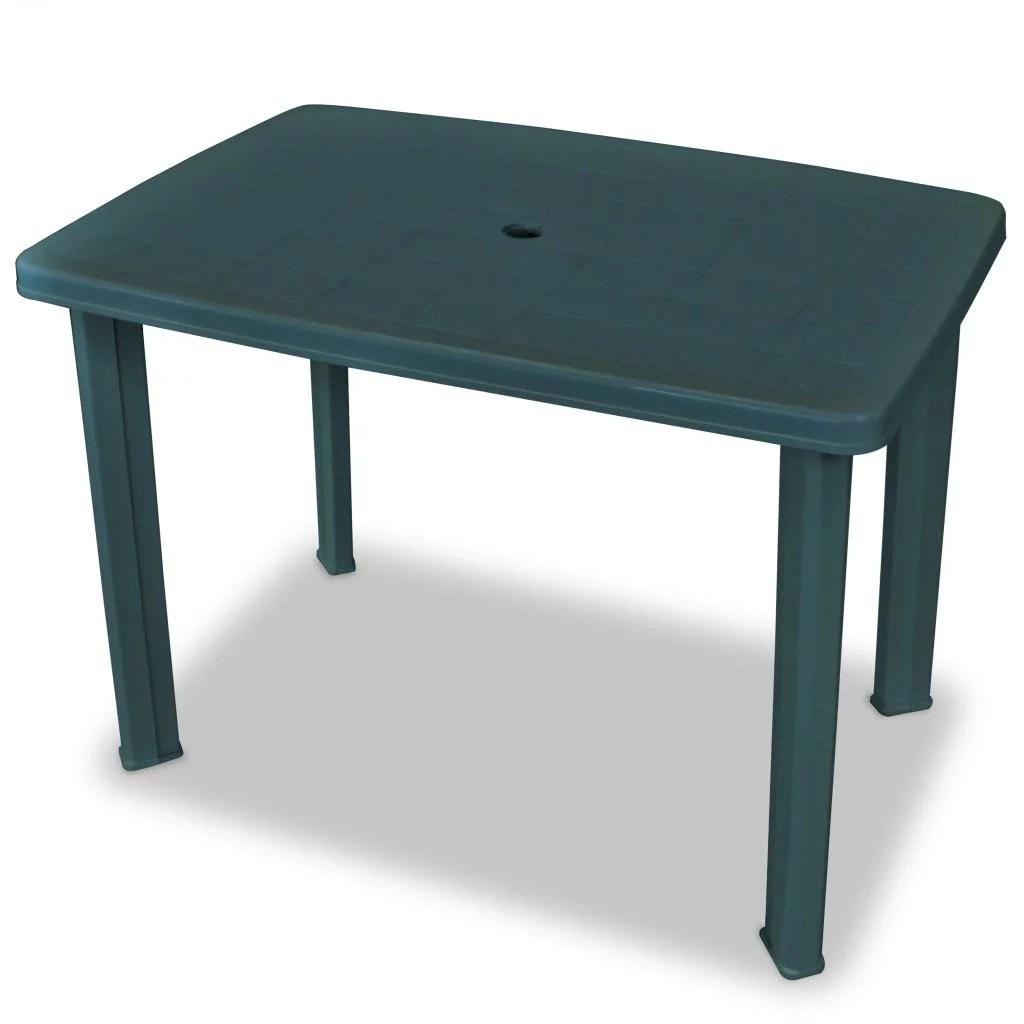 garden table green 39 8 x26 8 x28 3 plastic