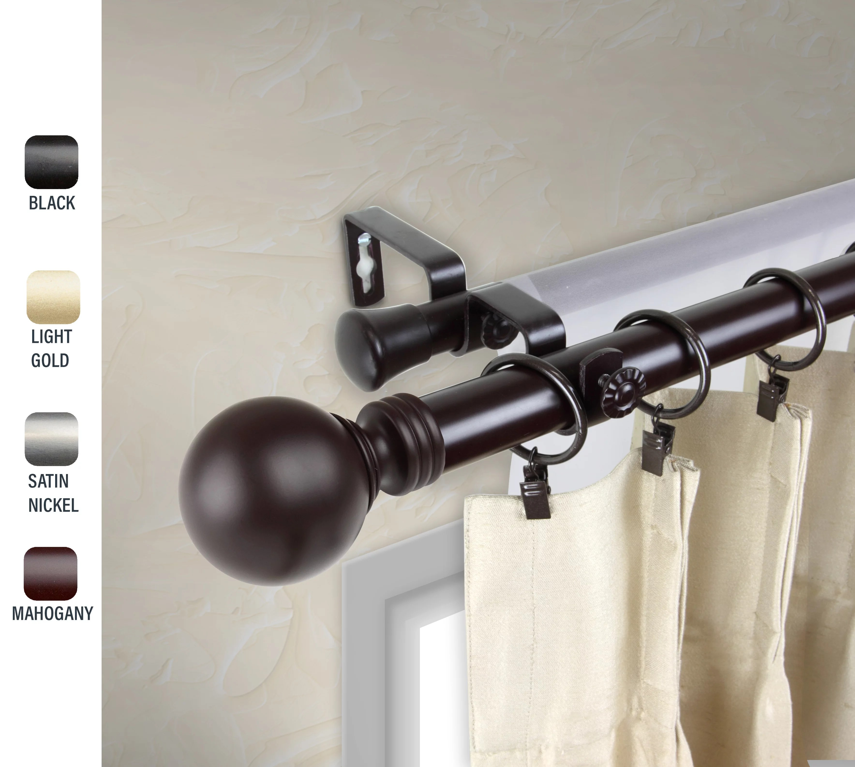 walmart curtain rods 120 inches