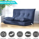 Lazy Sofa Floor Chair Foldable Double Chaise Lounge Sofa With 5 Reclining Position Adjustable Floor Couch Sofa For Living Room And Bedroom Floor Sofa Bed For Gaming Sleeper And Reading Walmart Com