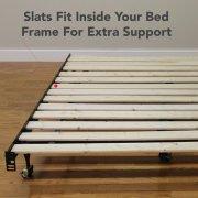 Modern Sleep Heavy Duty Wooden Bed Slats Bunkie Board Frame For Any Mattress Type Image