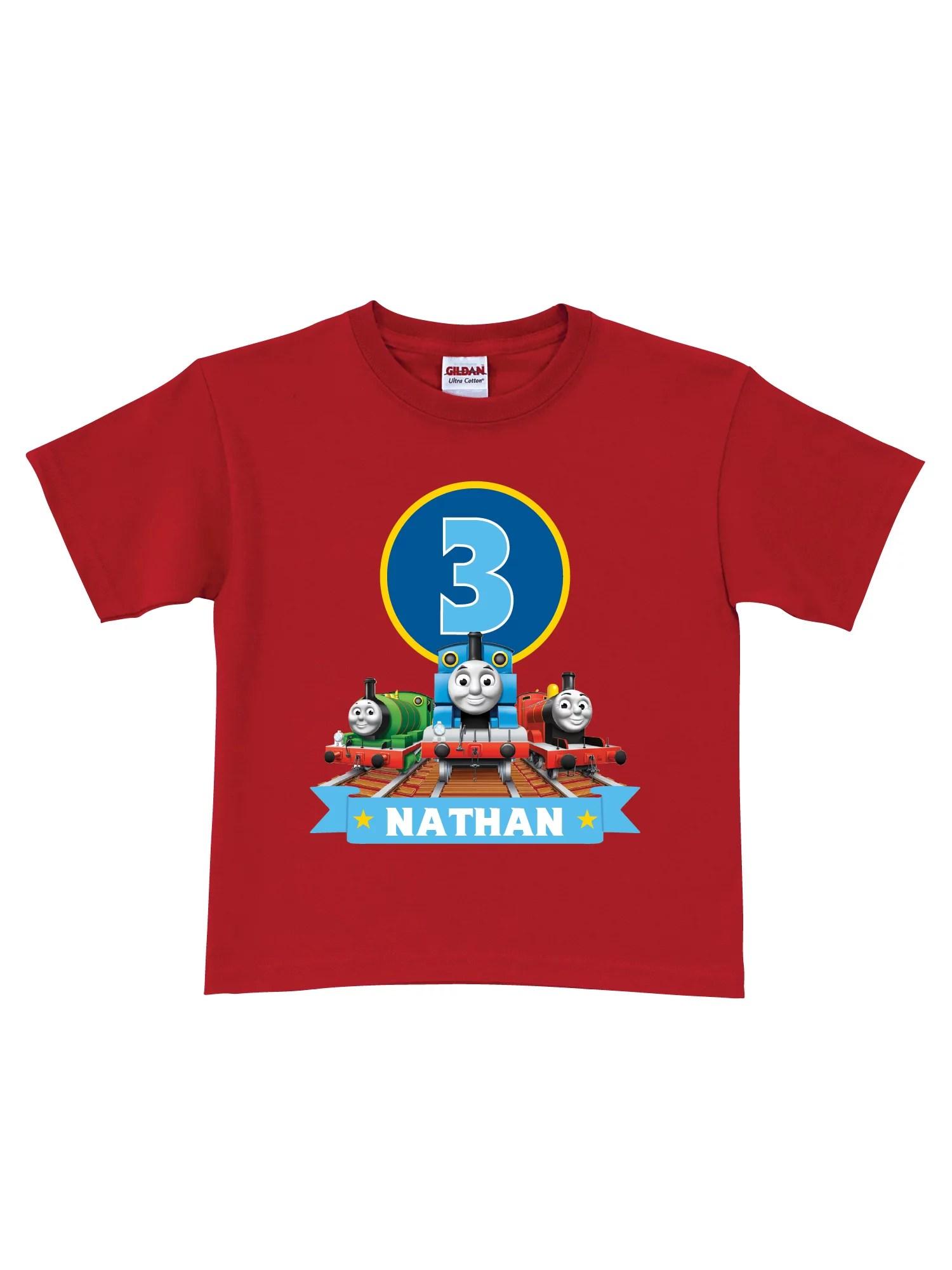Thomas Friends Personalized Thomas Friends Red Birthday Boys T Shirt In Sizes 2t 3t 4t 5 6t Walmart Com Walmart Com