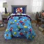 Super Mario Kids Microfiber Bed In A Bag Set With Bonus Tote Twin Walmart Com Walmart Com