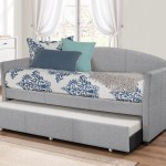 Hillsdale Furniture Westchester Upholstered Twin Daybed With Trundle Smoke Gray Walmart Com Walmart Com