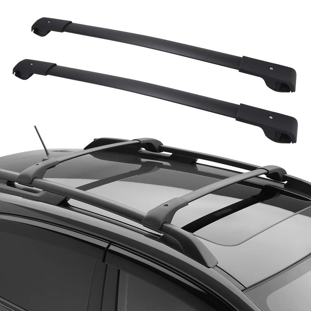 cross bars roof rack compatible for 2014 2020 subaru forester with side rails black aluminum top roof luggage canoe kayak carrier rack max load