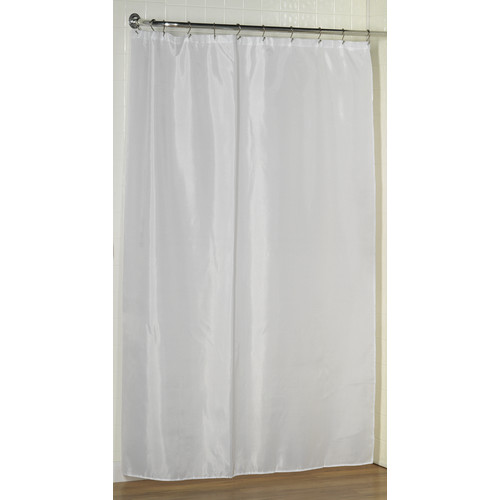 extra long 84 polyester shower curtain liner in white