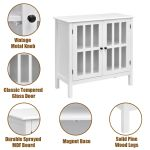 Home Garden Sideboards Buffets Storage Buffet Cabinet Glass Door Sideboard Console Table Server Display White Dr Hetsroni Com