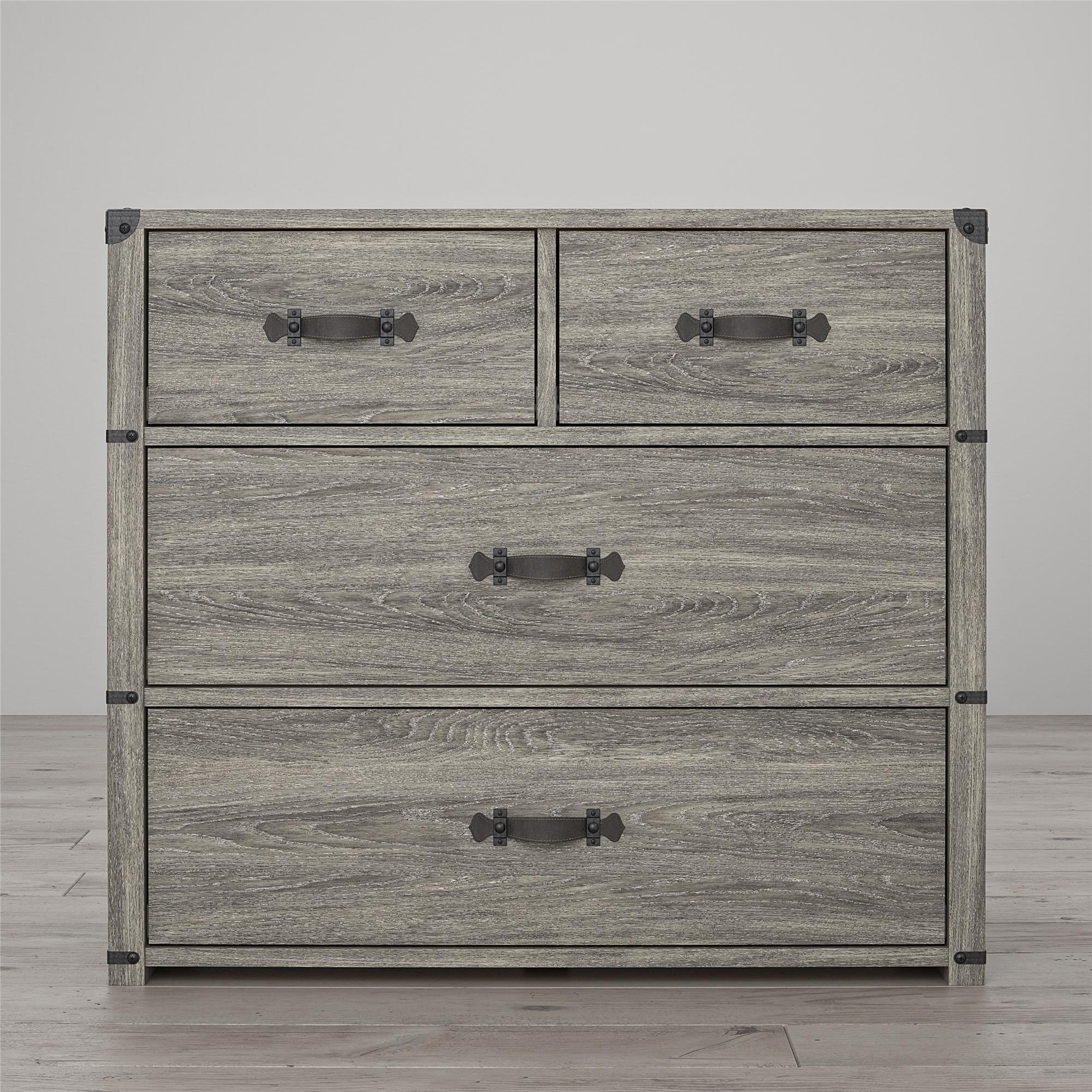 little seeds nova 4 drawer storage dresser gray oak walmart com