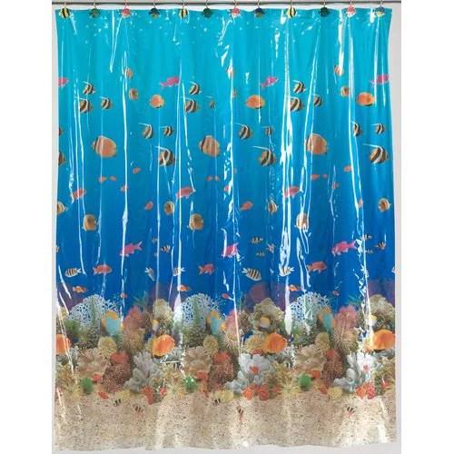 sealife vinyl shower curtain