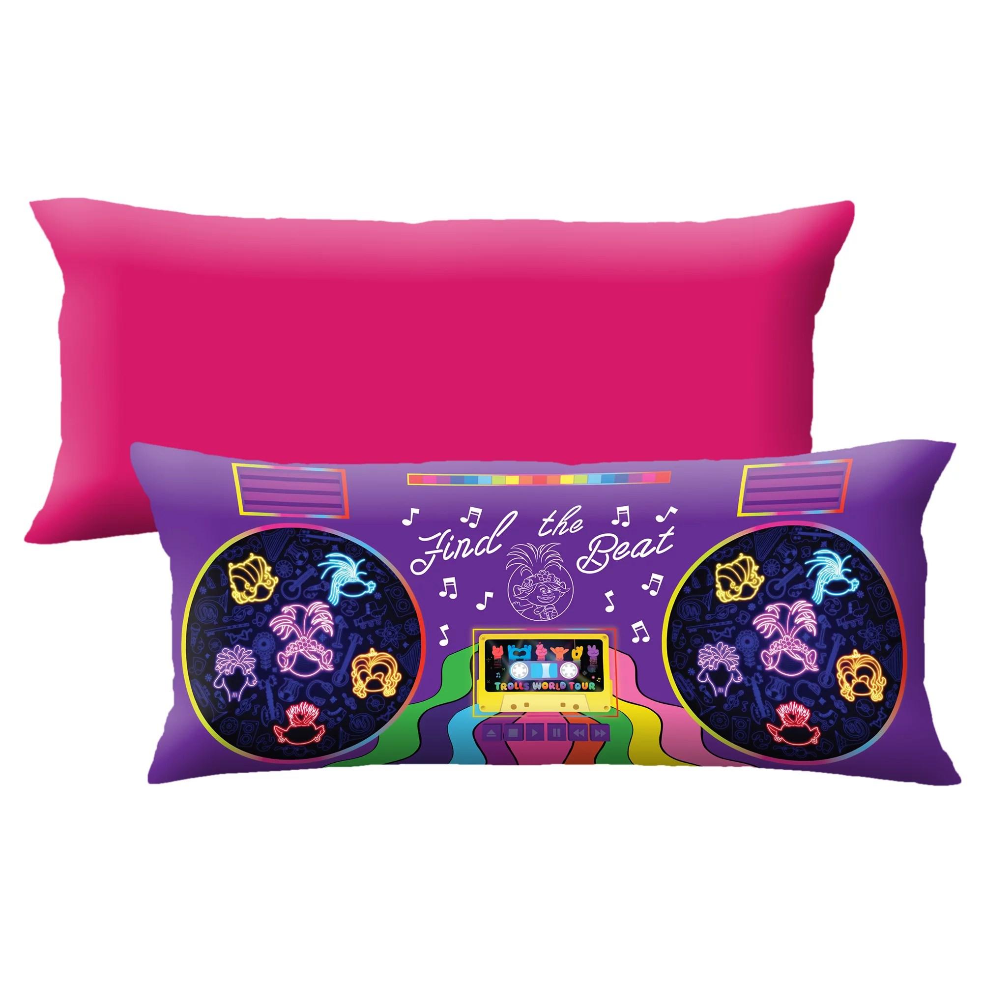 trolls world tour extra large body pillow glow in the dark 4 ft long walmart com