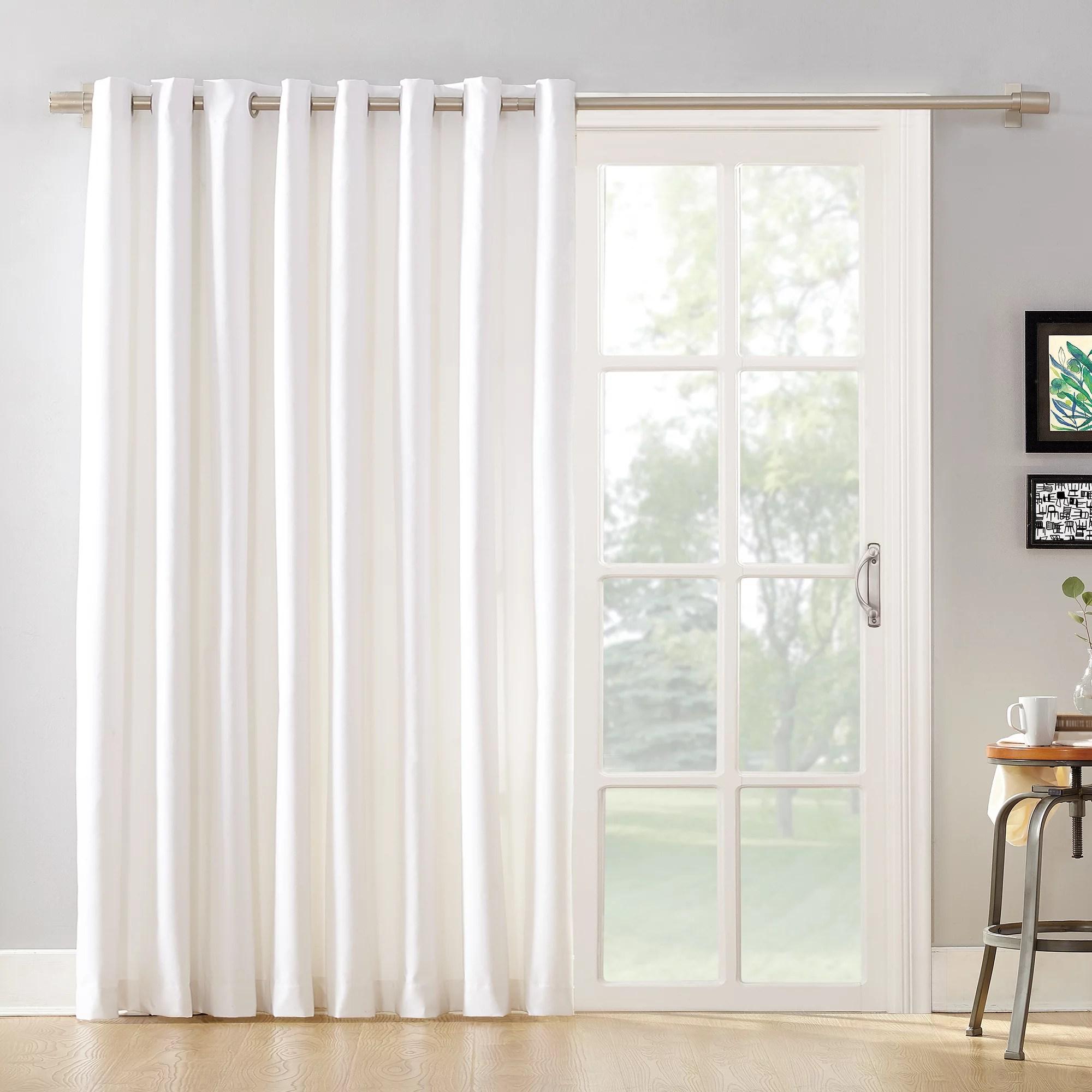 mainstays sliding glass door thermal lined room darkening grommet curtain panel walmart com