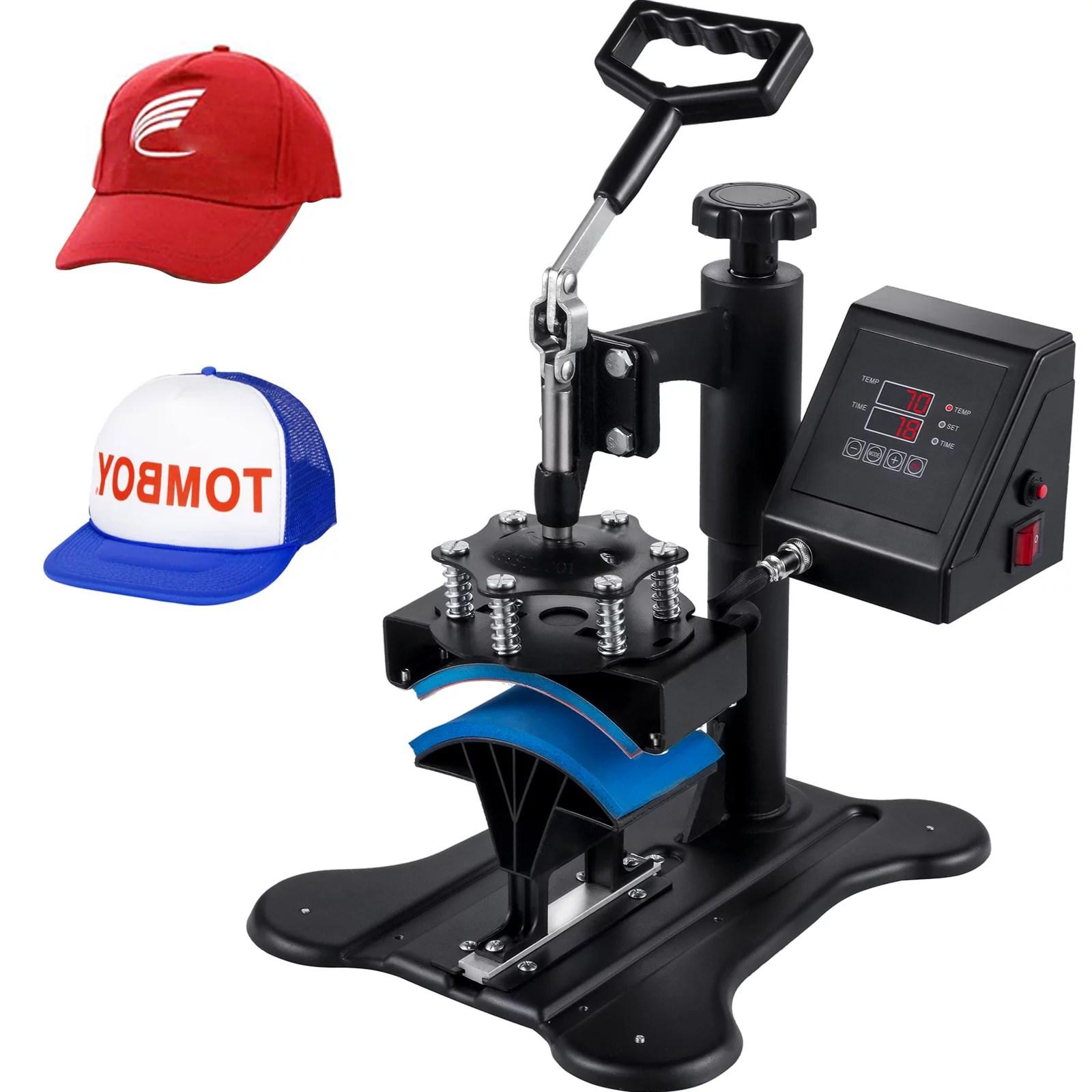 Vevor Cap Press 3 1 X 5 5 Inch Hat Press Machine Dual Digital Control Hat Heat Press Machine Durable Heat Press For Hats Baseball Hat Black Walmart Com Walmart Com