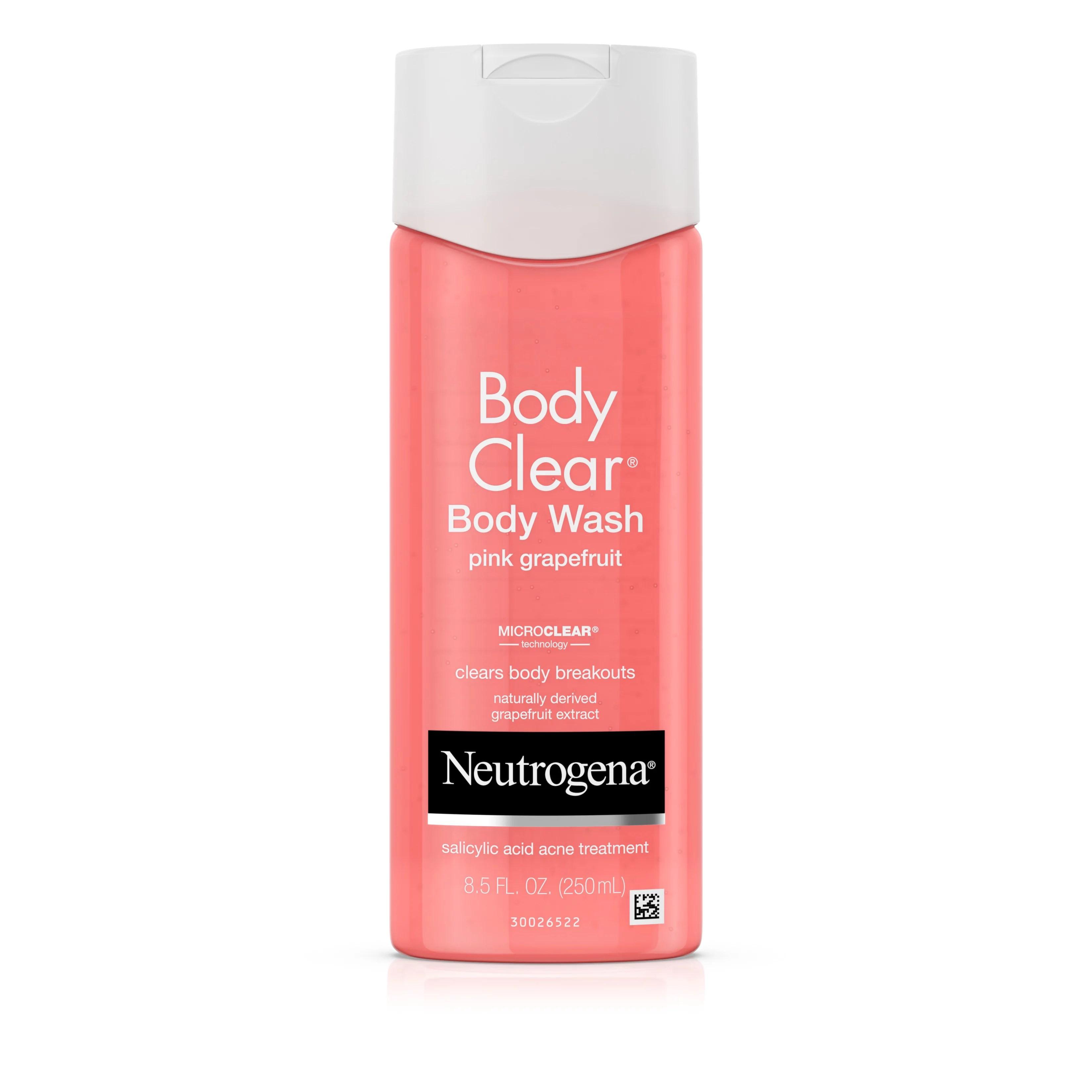 neutrogena body clear pink grapefruit acne body wash 8 5 fl oz walmart com