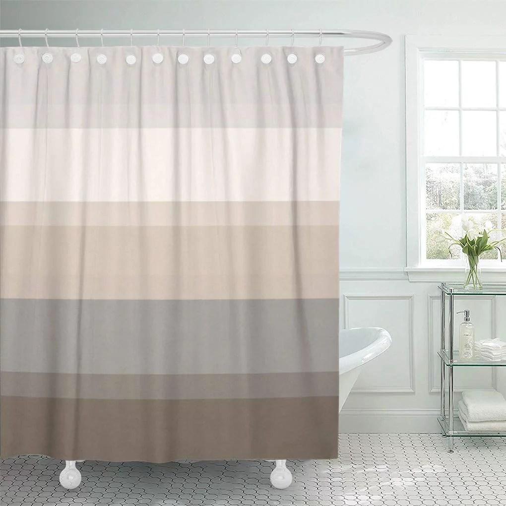 cynlon stripes chic taupe cream and gray elegant classy sophisticated bathroom decor bath shower curtain 66x72 inch walmart com