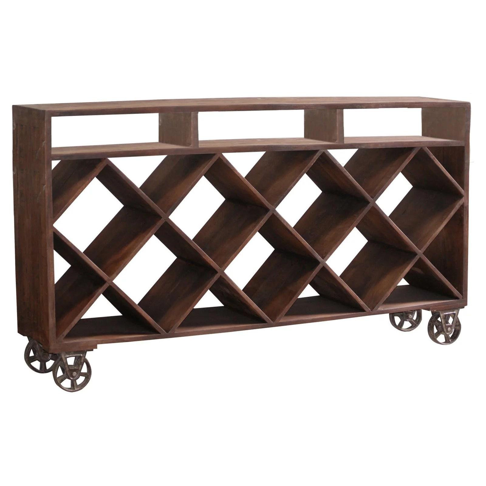 stein world ruthe wine rack display table on wheels