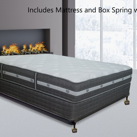 Continental Sleep 11 Inch Fully Assembled Orthopedic Mattress And 4 Box Spring