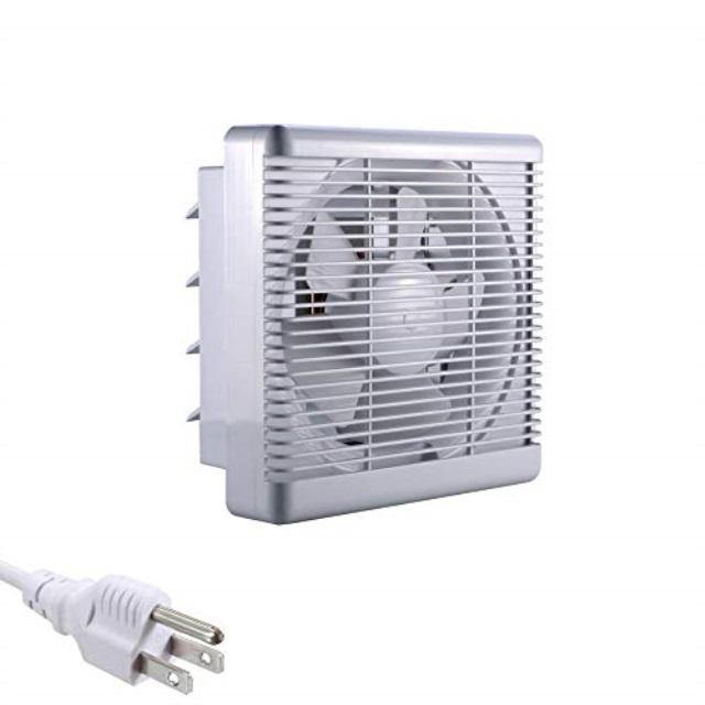 sunlar 8 inch 110 volt wall mounted variable speed shutter ventilation exhaust fan grill reverse air exhaust fan 300cfm
