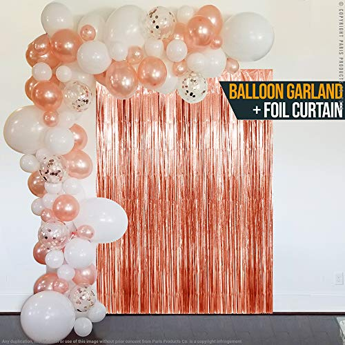 rose gold balloon arch garland kit white rose gold confetti latex balloons fringe curtain for baby shower wedding birthday bachelorette graduation