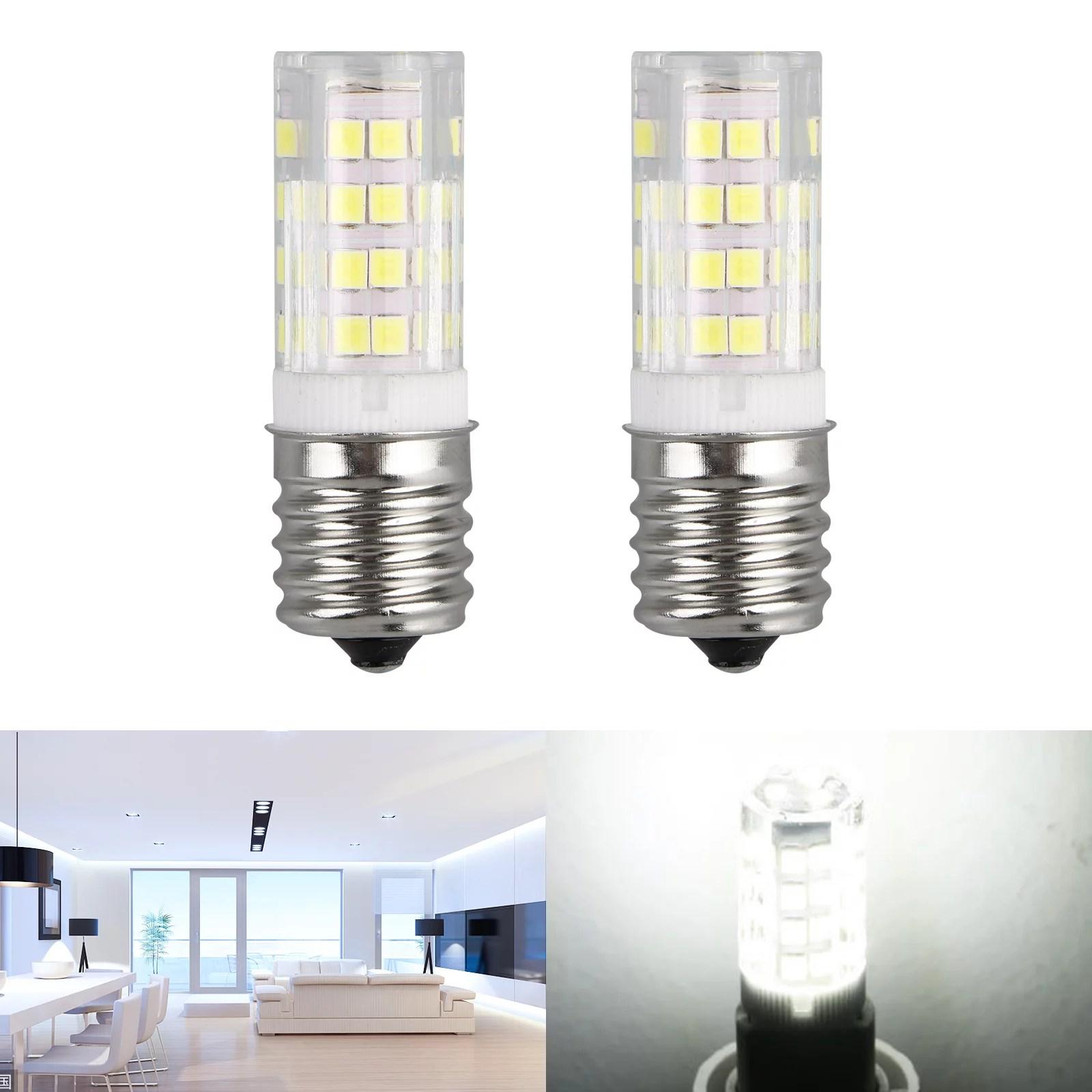 4 2pcs white dimmable e17 led bulb microwave oven appliance light bulb intermediate base bulb 4w 40w halogen bulb equivalent daylight white 6000k