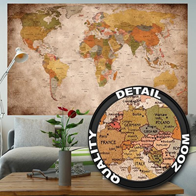 Wallpaper used look     wall picture decoration Globe Continents Atlas     Wallpaper used look     wall picture decoration Globe Continents Atlas World  Map Earth Geography retro old