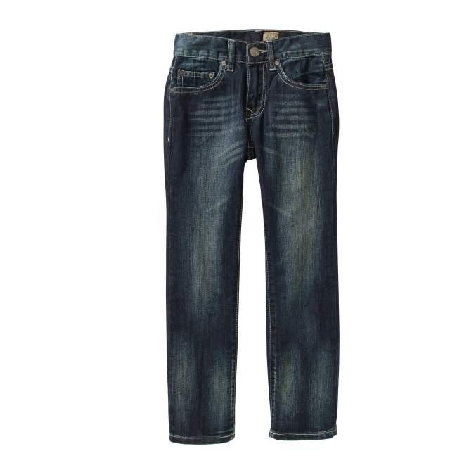 Tokyo Five Boys' Straight Leg Fashion Denim Dark Wash