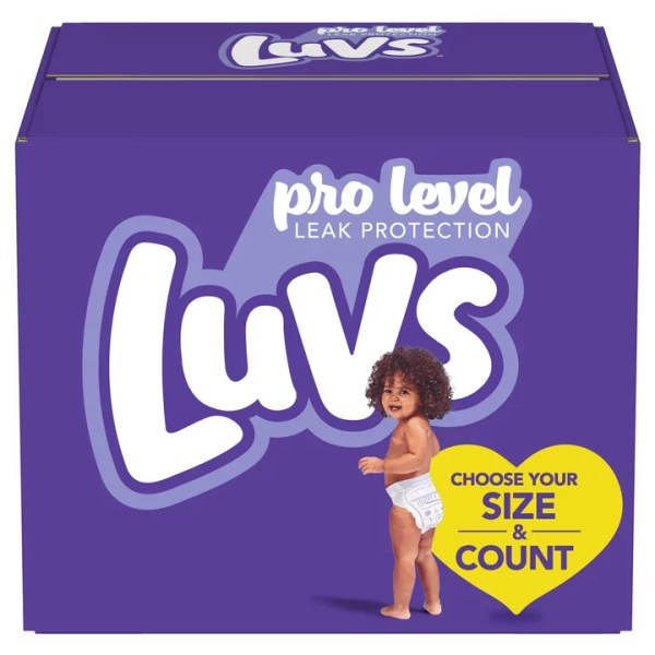 Luvs Pro Level Leak Protection Diapers Size 4 144 Count