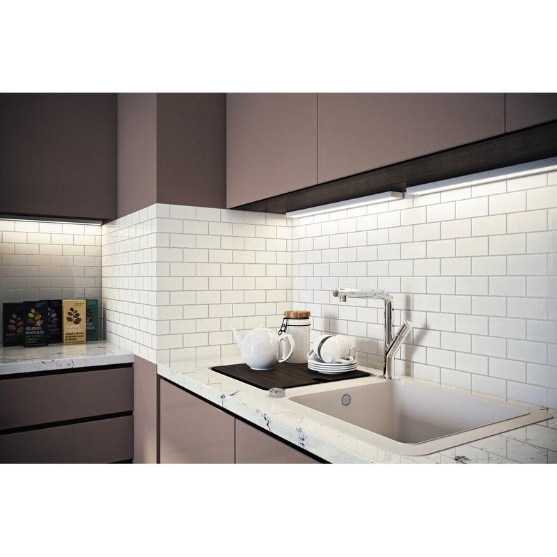 giorbello white porcelain 2x4 inch subway tiles 16 5 sq ft walmart com