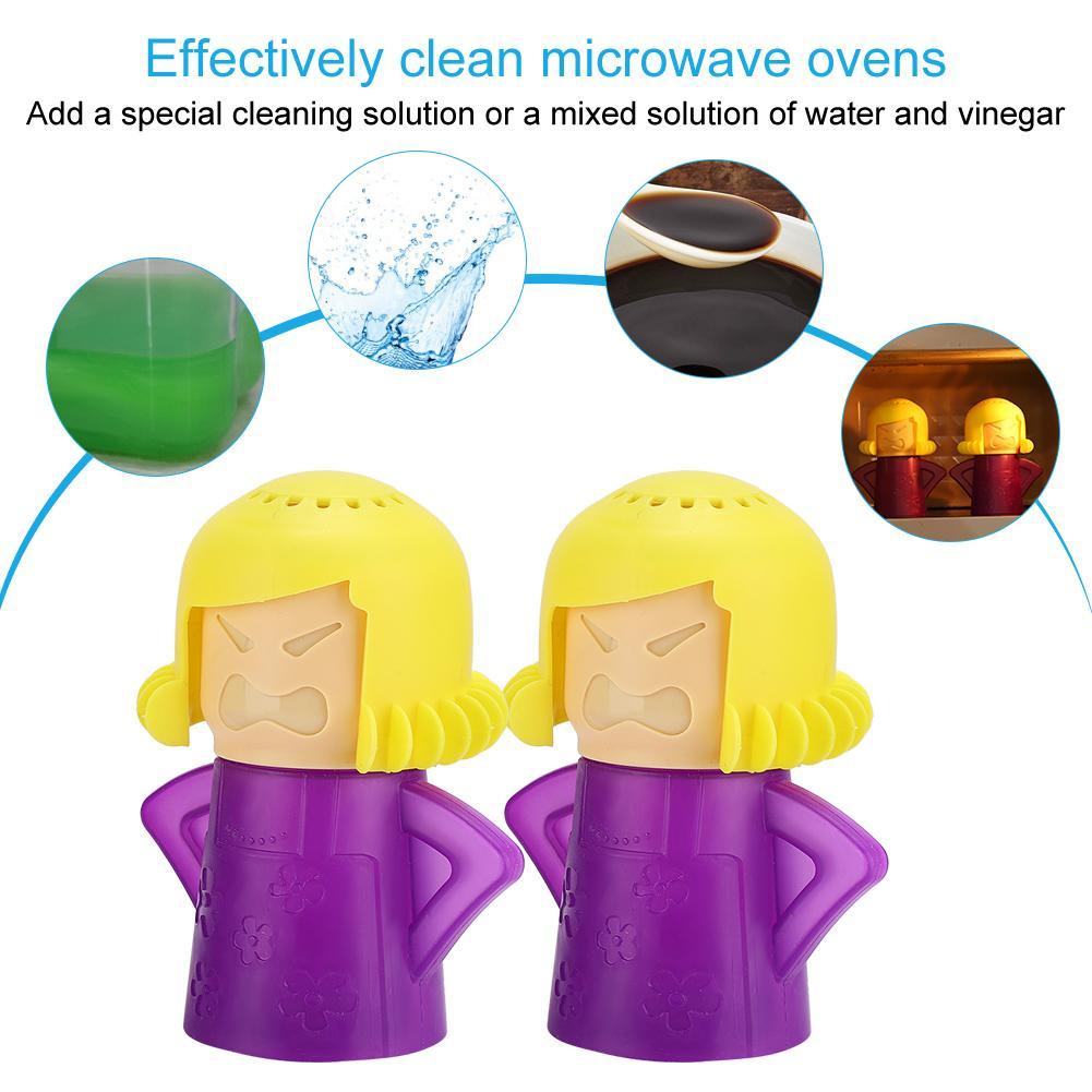 herwey household microwave cleaner microwave cleaning tool 2pcs household microwave oven cleaner oil stain remover microwave cleaner tool for