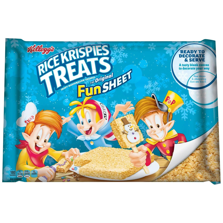 Kellogg S Rice Krispies Treats Fun Sheet 32 Oz Walmart Com Walmart Com