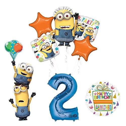 Despicable Me 3 Minions Stacker 2nd Birthday Party Supplies Walmart Com Walmart Com