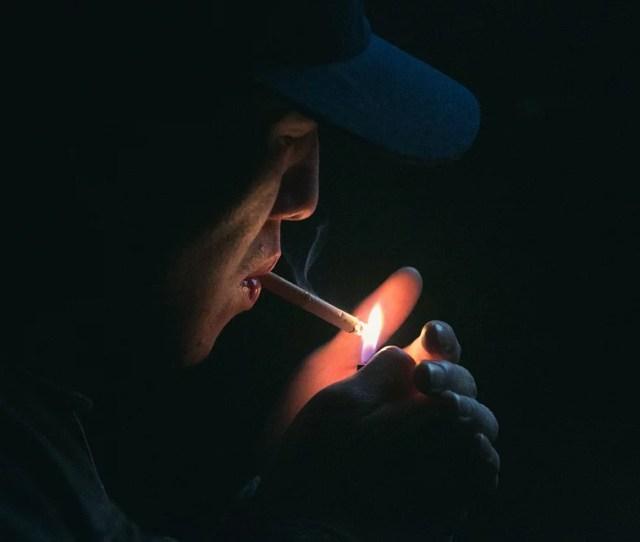 Framed Art For Your Wall Cigar Fag Flame Lighter Cigarette Man Hands Dark 10x13 Frame