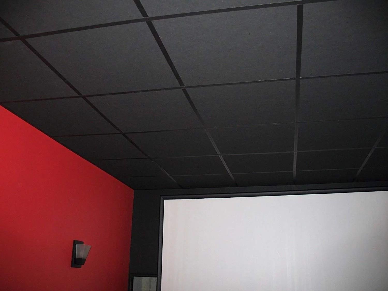 soundsulate sound absorbing acoustical drop ceiling tiles 24 x 24 x 1 lot of 20 tiles walmart com