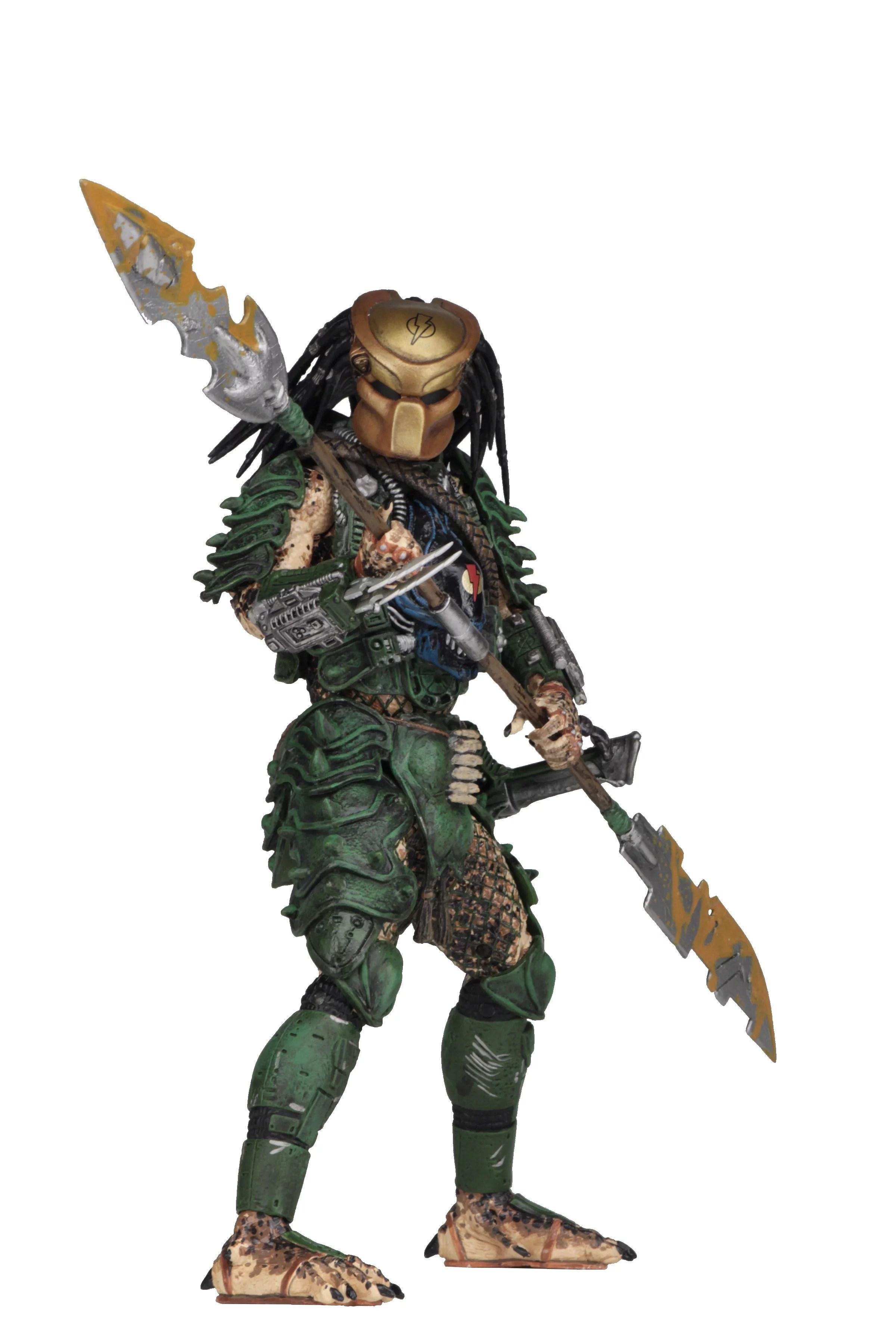 Predator 7 Scale Action Figures Series 18 Assortment Broken Tusk Predator Walmart Com Walmart Com