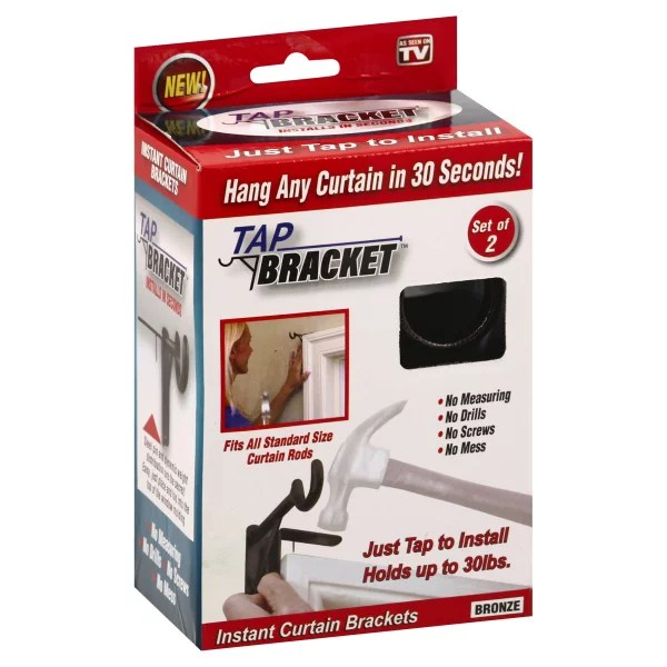 spark innovators bronze tap bracket curtain rod mounting brackets no drilling no holes in wall as seen on tv