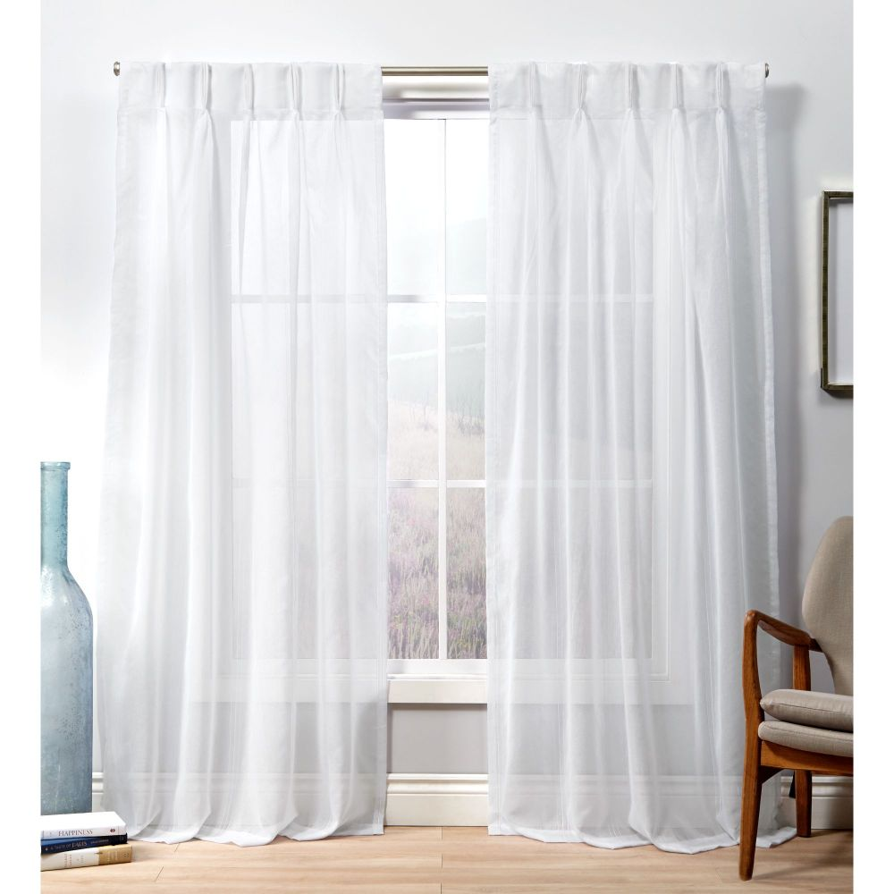 exclusive home penny sheer pinch pleat curtain panel pair