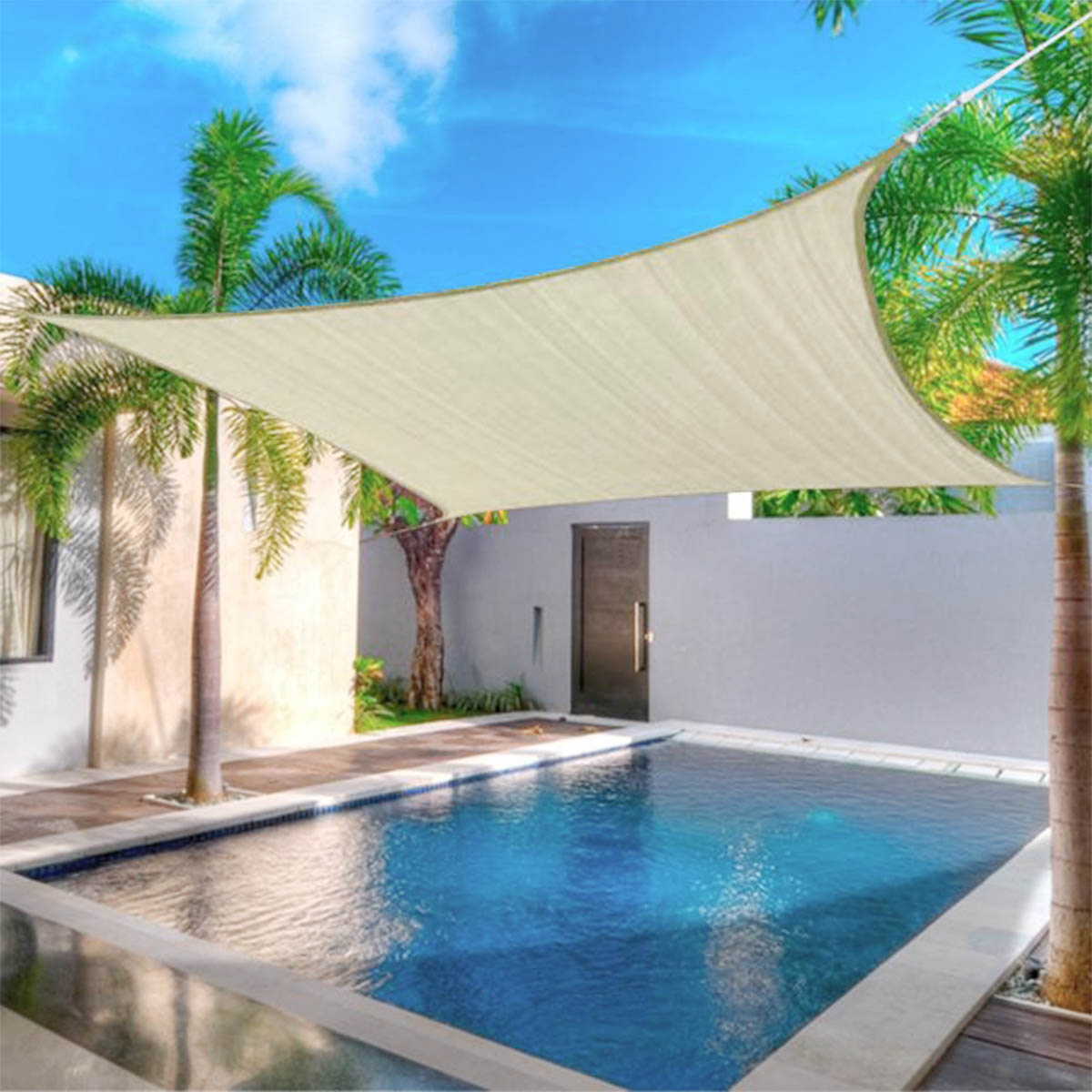 160gsm 300d sun shade sail waterproof shade sail sun uv block garden patio sunscreen awning canopy for outdoor activities