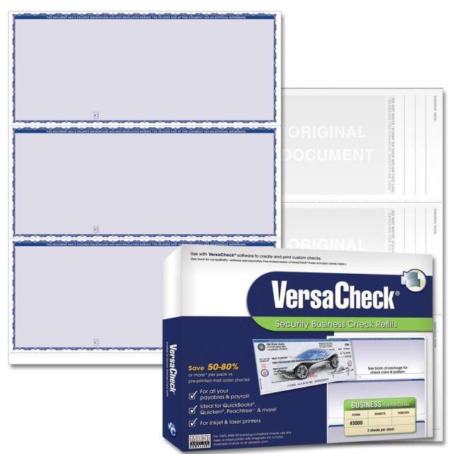 VersaCheck Security Business Check Refills: Form #27 Business Standard -  Blue - Premium - 27 Sheets - Walmart.com