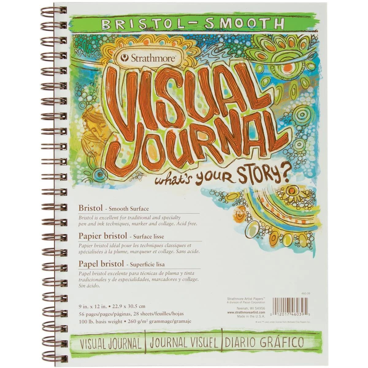 Strathmore Visual Journal Bristol Smooth 9 X12 28 Sheets