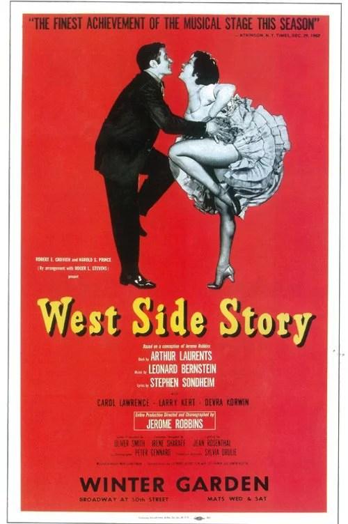 west side story 1957 11x17 broadway poster walmart com