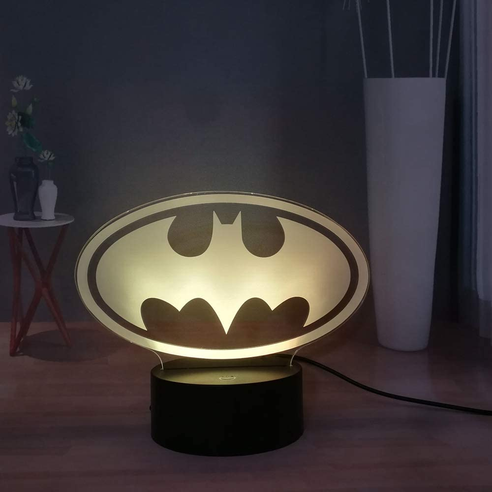 batman logo illusion led lamp 3d light experience