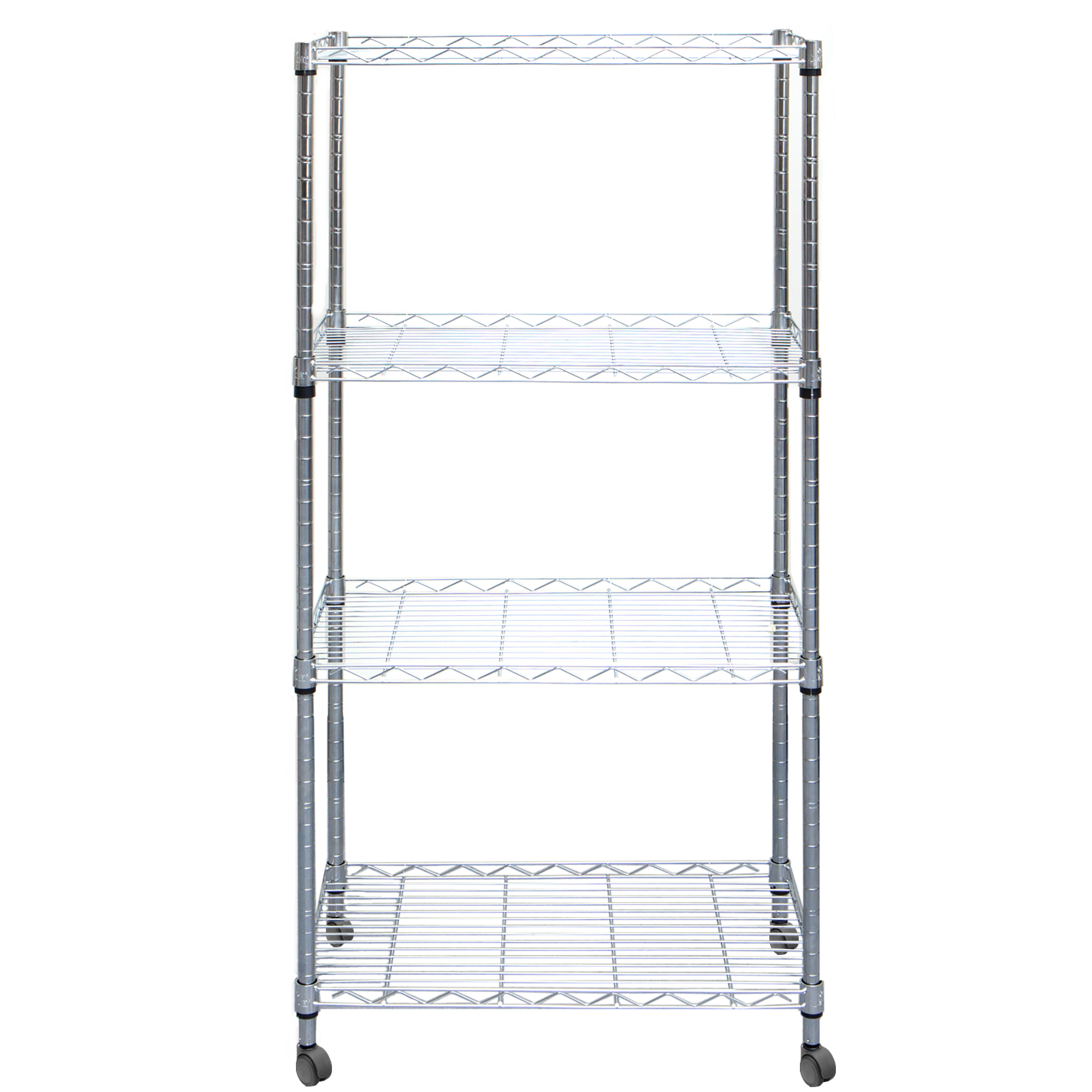Mind Reader 4 Tier Adjustable Heavy Duty Metal Storage