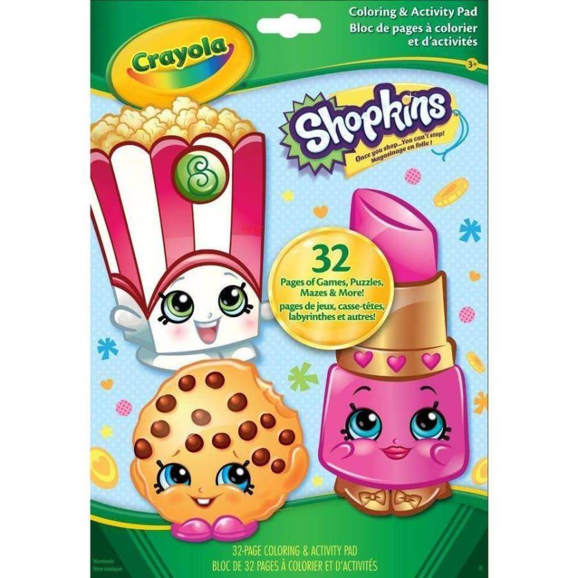 crayola giant coloring pages shopkins and disney
