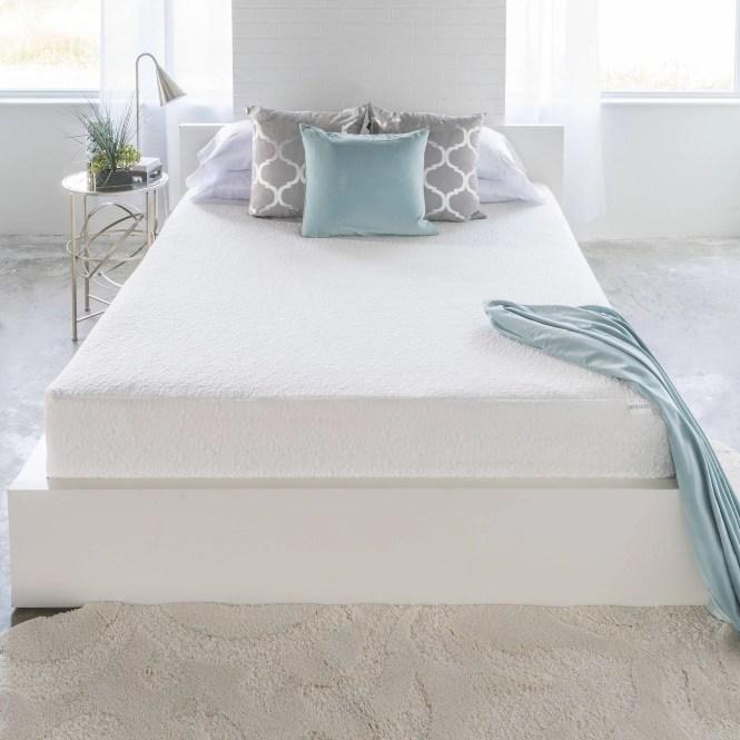 South S Somea White Basic 8 Full Memory Foam Mattress 54