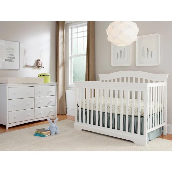 Broyhill Kids Bowen Heights 4 In 1 Convertible Crib White
