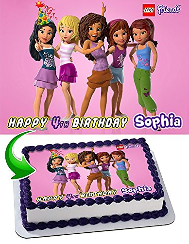 Lego Friends Cake Image Personalized Topper Edible Image Cake Topper Personalized Birthday 1 4 Sheet Decoration Party Birthday Sugar Frosting Transfer Fondant Image Edible Image For Cake Walmart Com Walmart Com